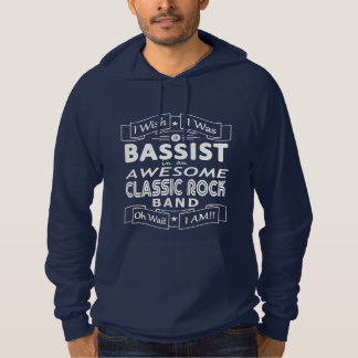 BASSIST awesome classic rock band (wht) Hoodie