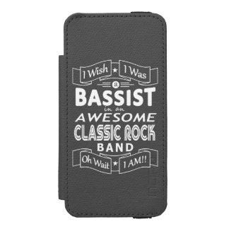 BASSIST awesome classic rock band (wht) Incipio Watson™ iPhone 5 Wallet Case