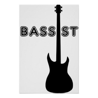 Bassist Silhouette Poster