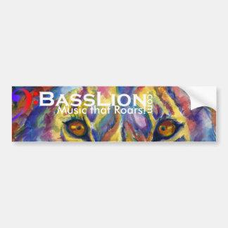 BassLion Artsy Bumper Sticker