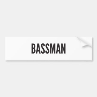 Bassman Sticker Bumper Sticker