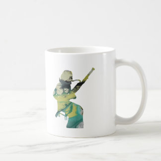 bassoon art coffee mug