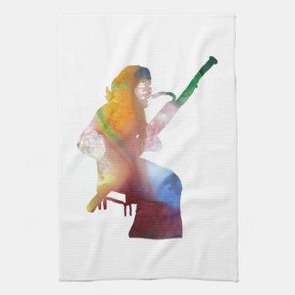 bassoon art kitchen towel