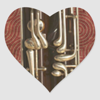 Bassoon Keys Heart Sticker