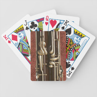 Bassoon Keys on Dark Red Bicycle Playing Cards