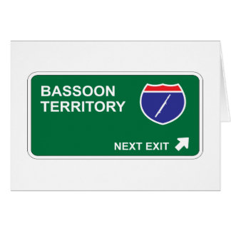 Bassoon Next Exit Card