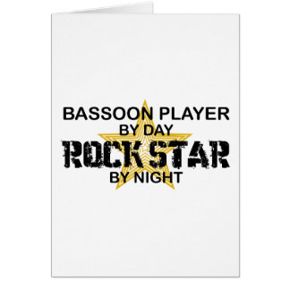 Bassoon Player Rock Star by Night Card