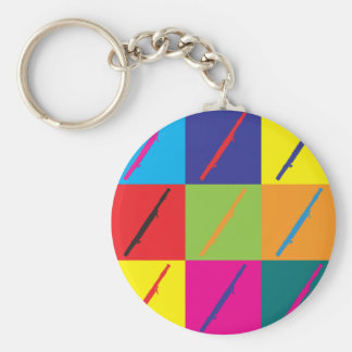 Bassoon Pop Art Keychain