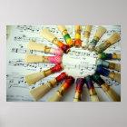 Bassoon Reed Rainbow Poster