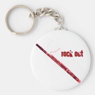 Bassoon Rock Out Keychain