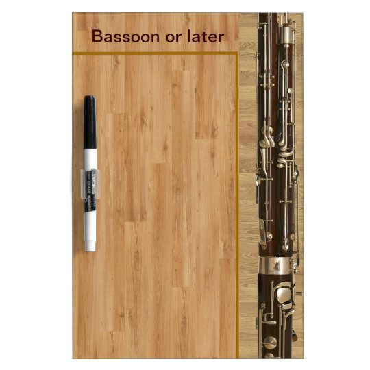 Bassoon Sections on Wood Effect Dry Erase Board