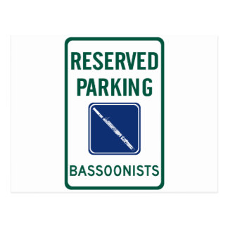 Bassoonists Parking Postcard