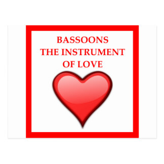 BASSOONS POSTCARD