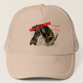 Bassquatchin' on the hunt trucker hat