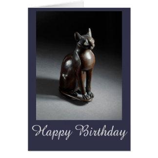 Bast (Egyptian cat goddess) birthday card