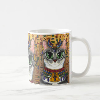 Bast Goddess Bastet Egyptian Cat Art Mug
