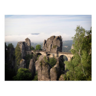 Bastei Bridge In Saxon Switzerland postcard