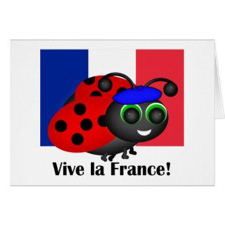 Bastille Day Ladybug Card