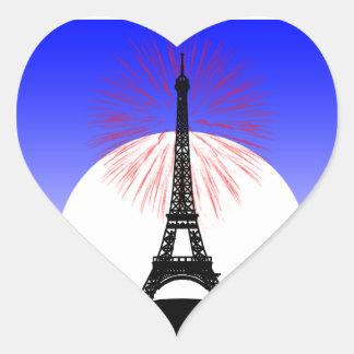 Bastille Day paris Heart Sticker
