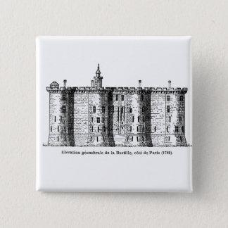 Bastille - three views 2 inch square button