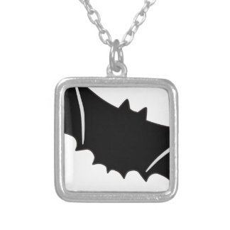 Bat #5 silver plated necklace