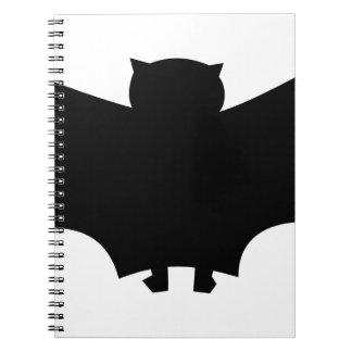 Bat #6 spiral notebook