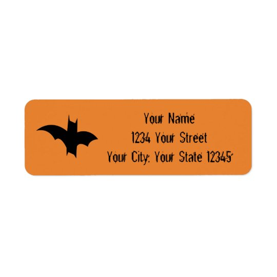 Bat Address Label