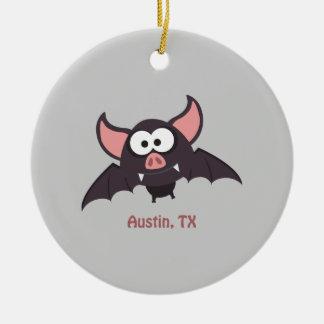 Bat - Austin, Texas Ceramic Ornament