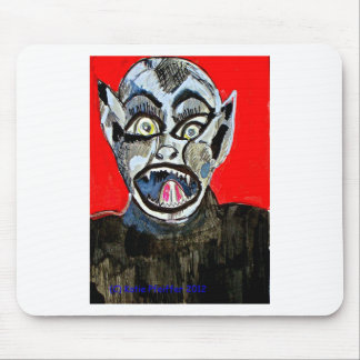 Bat Boy Scream by Katie Pfeiffer Mouse Pad