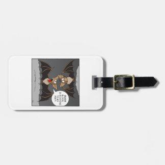 Bat Cartoon Luggage Tag
