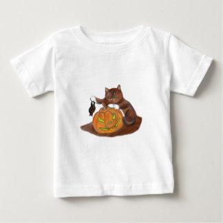 Bat, Carved Pumpkin and a Kitten Tshirts