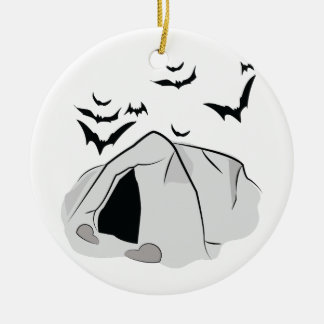 Bat Cave Ceramic Ornament