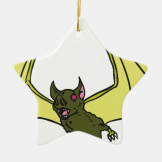 Bat Ceramic Star Ornament