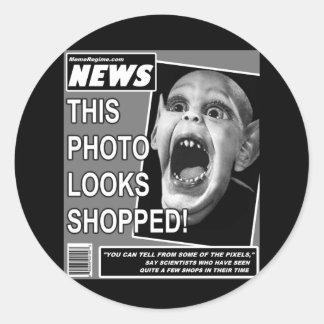 Bat Child Chicanery Round Sticker