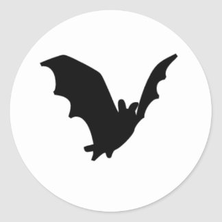 Bat Classic Round Sticker