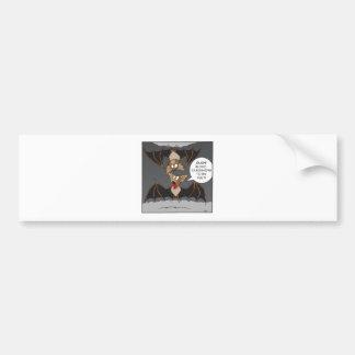 Bat Comedy Bumper Sticker