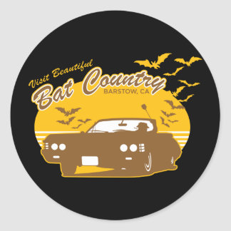 Bat Country - we can't stop here Classic Round Sticker