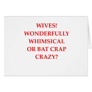 bat crap crazy card