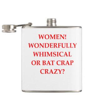 bat crap crazy hip flask