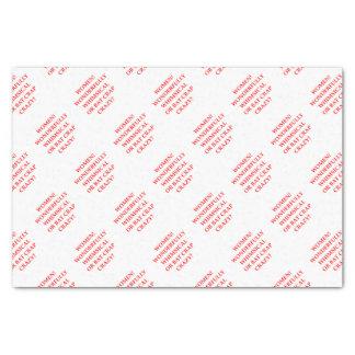 bat crap crazy tissue paper