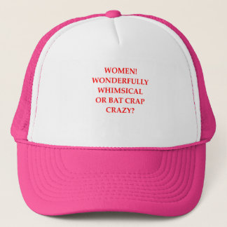 bat crap crazy trucker hat