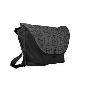 Bat Damask Courier Bag