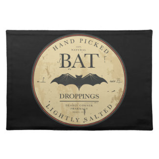 Bat Droppings Vintage Halloween Label Placemat