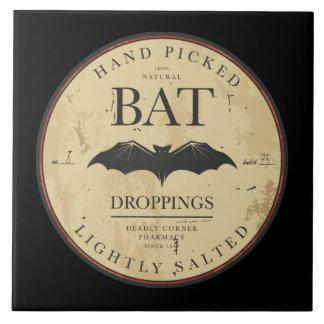 Bat Droppings Vintage Halloween Label Tiles