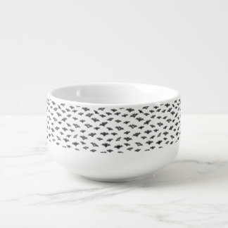 Bat Emoji Pattern Soup Bowl With Handle