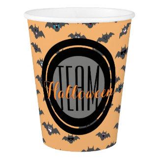 Bat Emoji Pattern with Custom Text Paper Cup