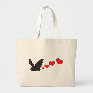 Bat farts Hearts Jumbo Tote Bag