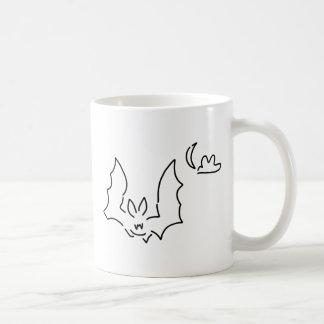 bat flight dog at night moon coffee mug