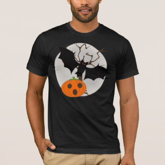 Bat Flying with Full Moon T-Shirt