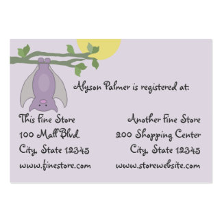 Bat/ Full Moon baby shower Large Business Card